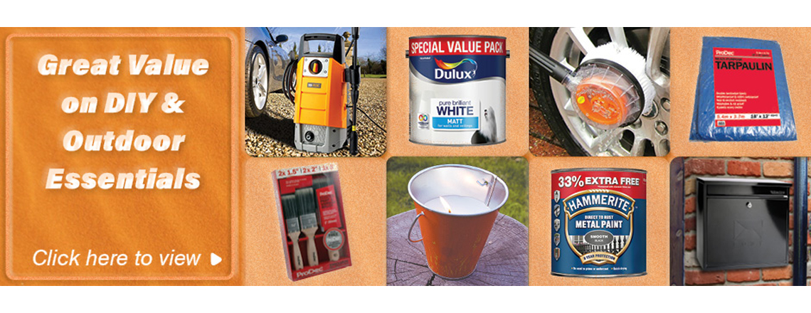 Great value on DIY and outdoor essentials