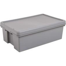 H/Duty Storage Box & Lid 92Ltr Grey