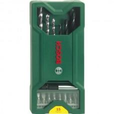 15 Piece Mixed Mini X-Line Drill/Driving set