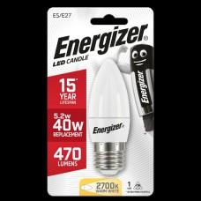 Energizer E27 Warm White Candle 40W/5.2W