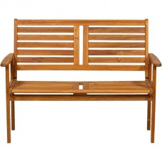 Napoli 2 Seater Bench In Acacia Wood