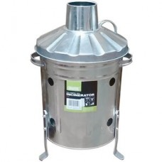 Galvanised Mini Incinerator & Lid 15Ltr