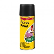 Supadec Spray Paint 400ml Matt Black 951