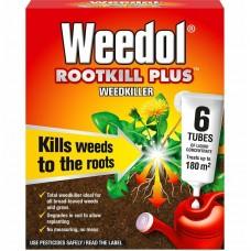 Weedol Rootkill Plus Lqd Concentrate Weedkiller 6 Tubes