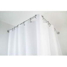 Modular Shower Curtain Rail Aluminium