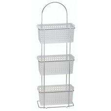 3 Tier Standing Caddy Plastic Baskets