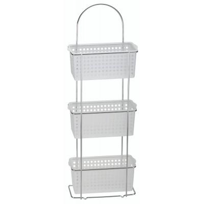 3 Tier Standing Caddy Plastic Baskets