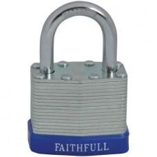 Faithfull Laminated Steel Padlock 40mm 3 Keys