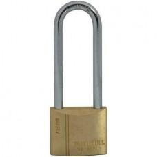 Faithfull Brass Padlock 40mm Long Shackle 3 Keys