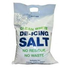 White Winter Salt For Ice & Snow