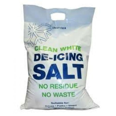 White Winter Salt For Ice & Snow
