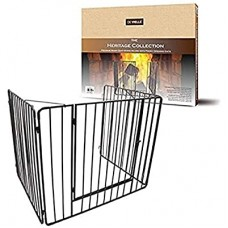 Heritage Premium Stove Guard with Gate Black