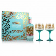 Silent Pool Rose Expression Gin and 2 Glass Gift Set 70cl