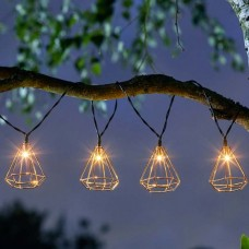 Geo Solar String Lights, 10 LEDs
