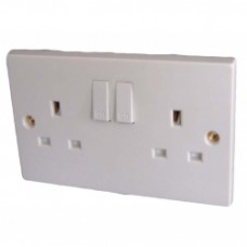 Dencon 13A, Twin Switched Socket Outlet to BS1363 Pre-Packed