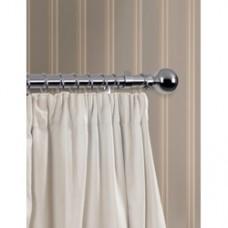 120cm, 28mm diameter Chrome Finish Curtain Pole