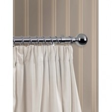 240cm, 28mm diameter Chrome Finish Curtain Pole