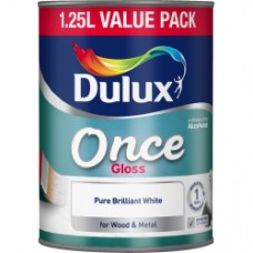 Dulux Once Gloss PBW 1.25Ltr