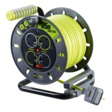 ProXT 13Amp 25mtr 4 sockets Open Cable Reel