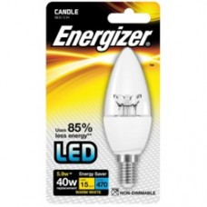 Energizer E14 Warm White Blister Pack Candle 5.9w
