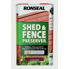 Shed & Fence Wood Preserver Autumn Brown 5L