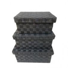 ST88617GY Siena Storage Set 3 With Lid Grey