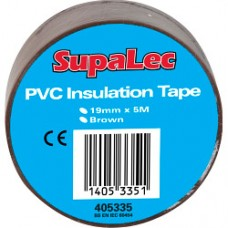 Insulation Tape PVC Brown
