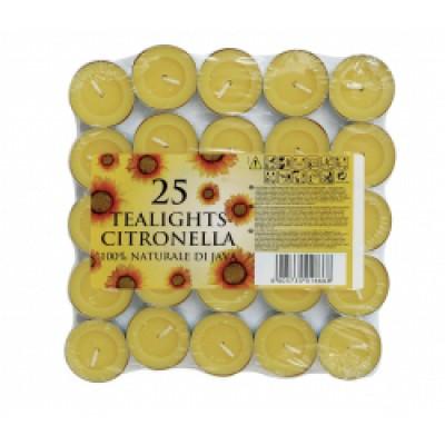Citronella Tealights Pack 25