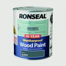 10 Year Weatherproof Satin Wood Paint 750ml - Grey