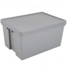 62L H/D BOX&LID GREY