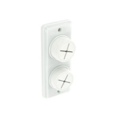 Securit Towel Holder White Double
