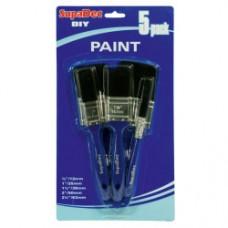 Supa DIY Paint Brush Set 12mm, 25mm, 38mm, 50mm, 63mm