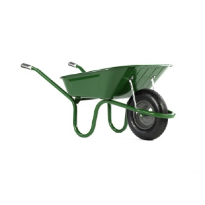 Wheelbarrow Green 90L Pneumatic Wheel