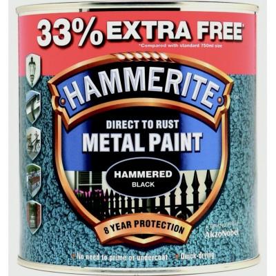 Hammerite Black 750ml + 33%foc