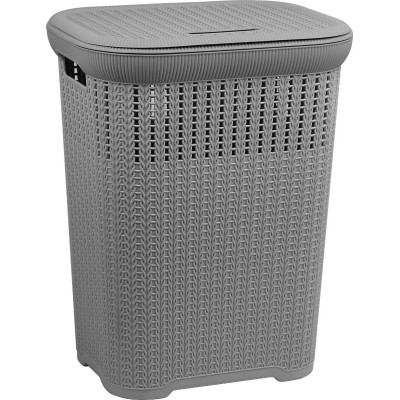 Lace Laundry Hamper in Grey 50ltr