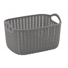 Lace Storage Basket in Grey 4ltr