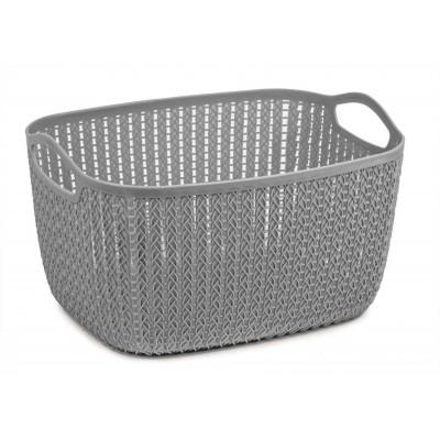 Lace Storage Basket in Grey 9ltr