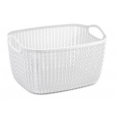 Storage Basket Lace White 9ltr