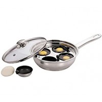 Egg Poacher Stainless Steel 22cm 4 Cup