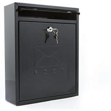 Compact Post Box - Black