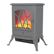 2KW Stirling Electric Fire Stove Grey