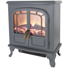 2KW Log Effect Stove Fire in Grey